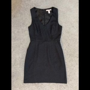 Little Black Dress with pockets XS, texture detail